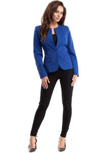 Blue One Button Classic Ladies Blazer