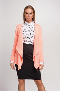 Apricot Stylish Loose Lapels Cardigan