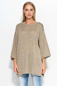 Cappuccino Oversized 3/4 Sleeves Sweater