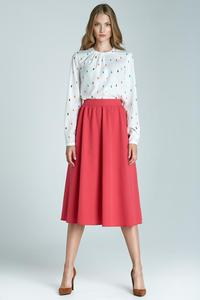 Pink Prom Pleated Midi Skirt