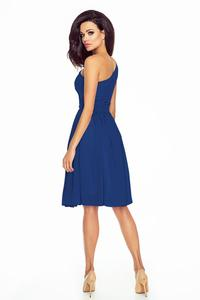 Blue Asymetrical Romantic Evening Dress