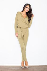 Green Stylish Ladies Belted Jumpsuit