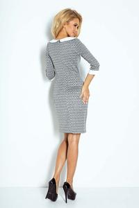 Grey Mini Dress with White Collar