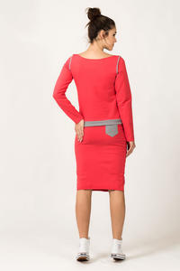 Coral Fitted Sport Style Skirt