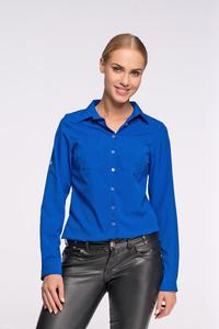 Blue Classic Shirt with Double Pockets