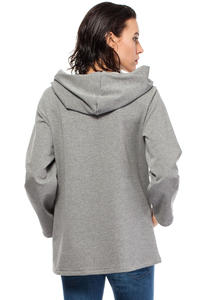 Grey Oversized Hooded Sweatshirt with Contrast Kangaroo Pocket