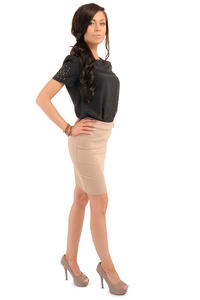 Cappuccino Bodycon Pencil Mini Skirt