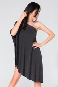 Black Oversized Asymetrical Tunic