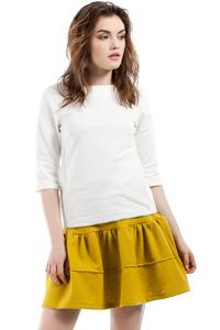 Yellow Frilled Mini Skirt