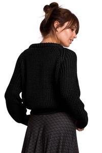 Classic Black Sweater with Neckline