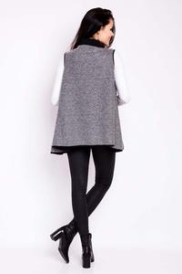 Grey Vest Cape Jacket