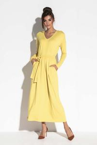 Deep Ceylon Yellow Maxi Dress V Neck