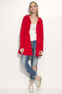 Red Comfy Jacket with Frills&Hood