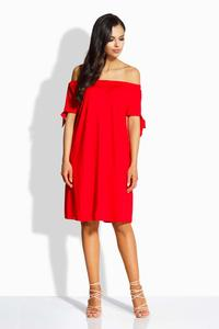 Red Offshoulders Casual Dress