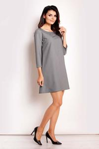 Grey Classic Flared Mini Dress