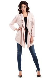 Pink Loose Lapels Suede Imitation Jacket