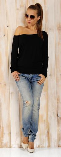 Black Classic Long Sleeved Top with Pocket