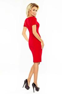 Red Classic Mini Short Sleeves Dress