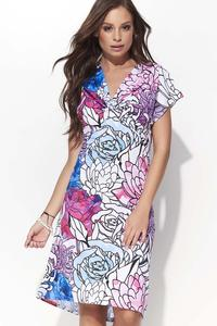 Feminine Dress with Short Sleeves - Pattern 2