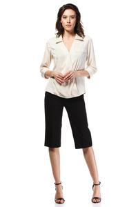 Beige Stylish 3/4 Sleeves Shirt