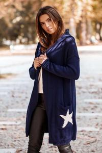 Long Cardigan without Clasp (Navy Blue)
