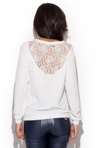 White Outgoing Style Woman Shirt Sweater