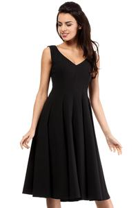 Black Sleeveless  Elegant Flared Coctail Dress