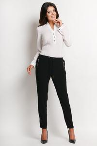 Ecru Elegant Office Style Shirt with Buttons