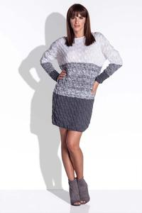 Grey Knitted Fall/Winter Dress