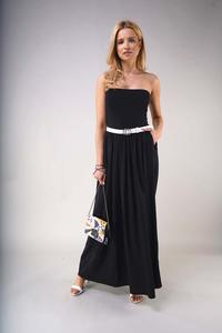 Black Maxi Dress with Open Shoulders