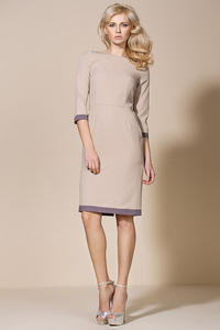 Beige Corporate Look Chic Dress