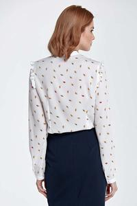 Leafs Pattern Shirt with Frills