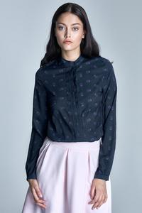 Dark Blue&Pink Long Sleeves Casual Shirt
