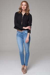 Black Thin&Short Stand-up Collar Jacket