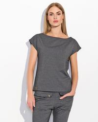 Dark Grey Classic Plain Ladies T-shirt