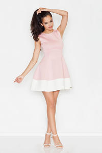 Pink Sleeveless Retro Style Mini Dress
