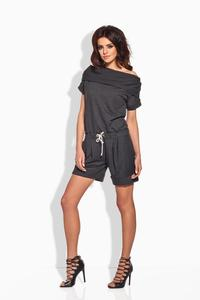 Dark Grey Short Ladies Jumpsuit