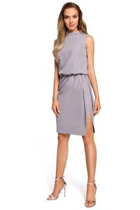 Gray Midi Dress with Sleeveless