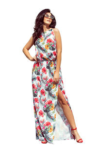 Floral Summer Maxi Dress Sleeveless