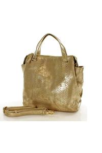 Gold Shiny Snake Skin Imitation Bag