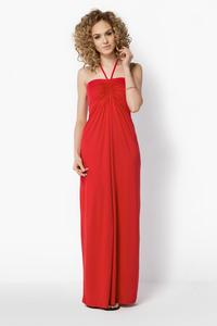 Red Maxi Long Halterneck Dress