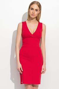 Red Slim Waist V-Neckline Elagant Tube Coctail Dress