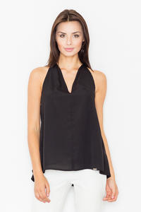 Black Delicate Summer Blouse