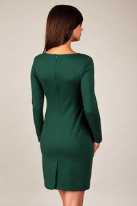Green Classic Elegant Draped Dress
