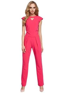 Pink Jumpsuit with a V-neck