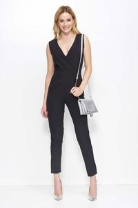 Black Sleeveless V-Neck Jumpsuit