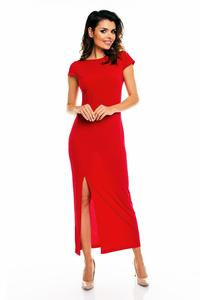 Red Open Back Maxi Long Dress