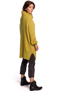 Women's Oversize Turtleneck Sweater - Lime