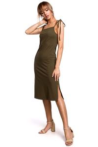 Cotton Strappy Dress (khaki)