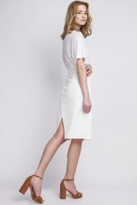 White Pencli High Waist Midi Skirt